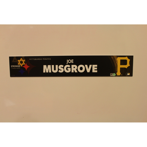 Photo of 2019 Game Used Locker Nameplate - Joe Musgrove