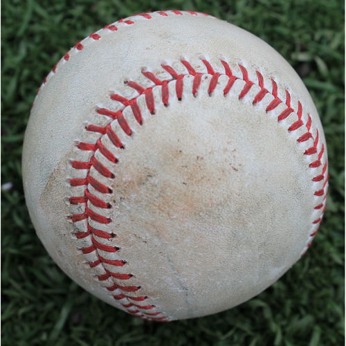 Photo of Game-Used Baseball: Jakob Junis Pitched Strikeout to Eric Stamets (CLE @ KC - 4/14/19)