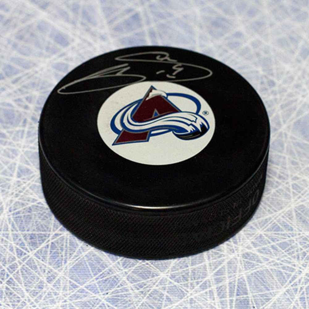 Joe Sakic Colorado Avalanche Autographed Hockey Puck