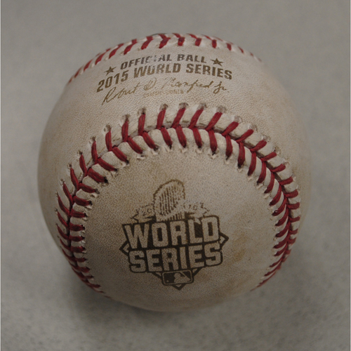 Photo of Game-Used Baseball - 2015 World Series - Kansas City Royals at New York Mets - Batter - David Wright, Pitcher - Chris Young, Bottom of 3, Pitch in Dirt - Game 4 - 10/31/2015