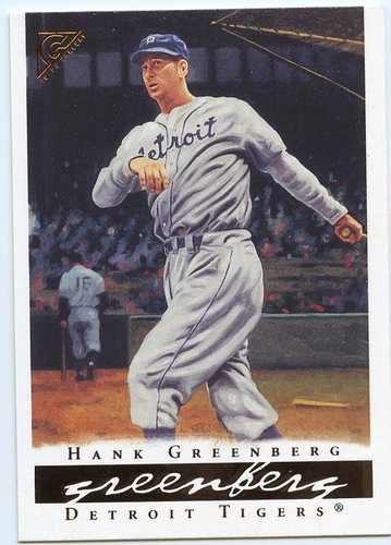 Photo of 2003 Topps Gallery HOF #54 Hank Greenberg w/Player