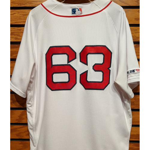 Darwinzon Hernandez #63 Game Used Home White Jersey