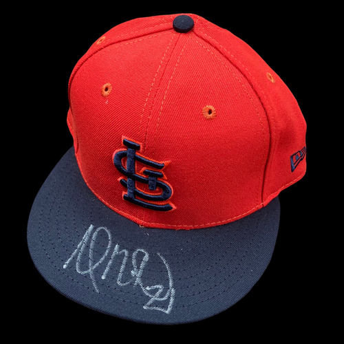 Photo of Andrew Miller Autographed Replica Player's Weekend Cap (Size 7 1/2)