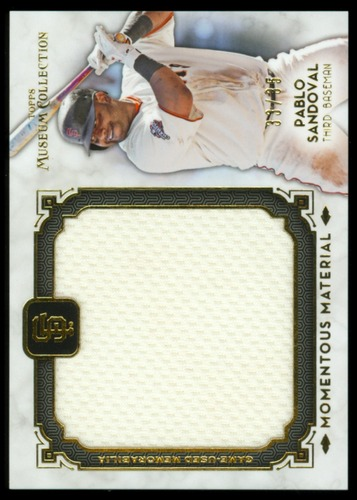 Photo of 2014 Topps Museum Collection Momentous Material Jumbo Relics Gold #MMJRPS Pablo Sandoval
