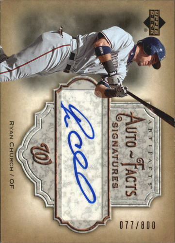 Photo of 2006 Artifacts Auto-Facts Signatures #RC Ryan Church/800