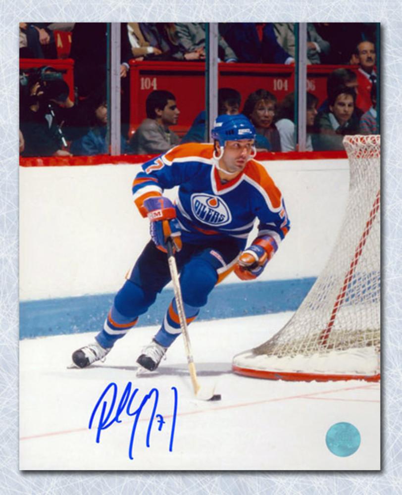 Paul Coffey Edmonton Oilers Autographed Playmaker Rush 8x10 Photo