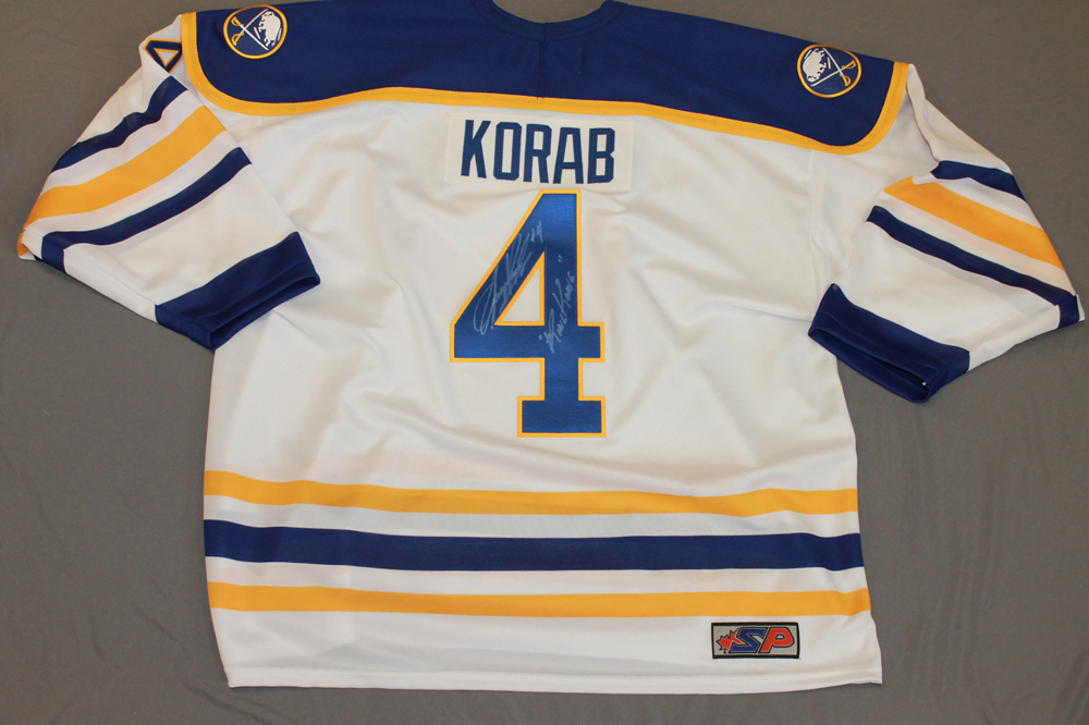Jerry Korab Autographed Buffalo Sabres Breast Cancer Awareness Jersey