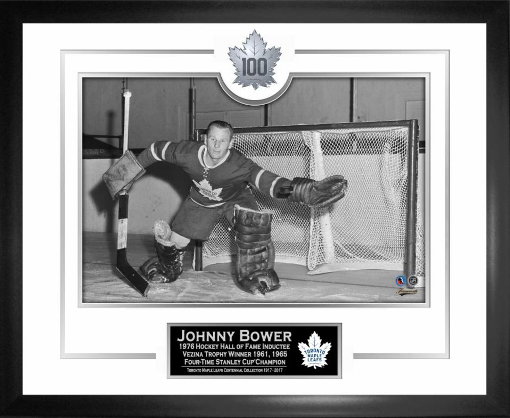 Johnny Bower - Framed Toronto Maple Leafs 100th Anniversary