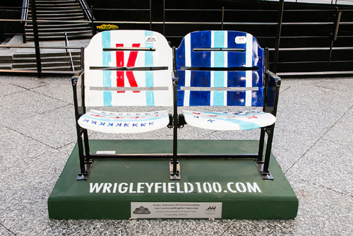 Wrigley Field Centennial Seats- Kerry Wood 20-Strikeout Game designed and autographed by CM Punk.