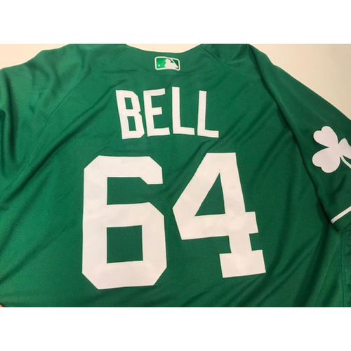Photo of Game-Used St. Patrick's Day Jersey: Chad Bell