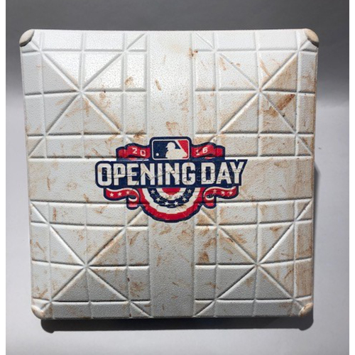 Photo of 2016 Los Angeles Angels Opening Day - Game-Used 3rd Base - 4/04/16