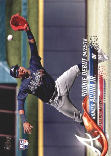 Photo of 2018 Topps Update #US252 Ronald Acuna Jr. Rookie Card