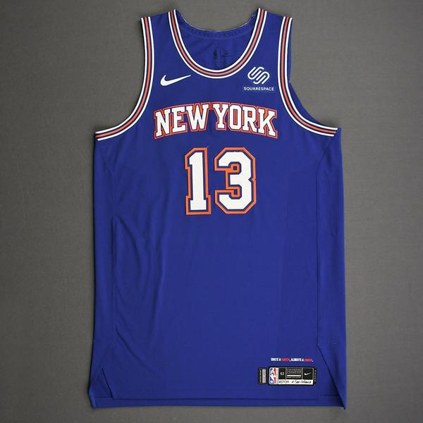 Image of Marcus Morris Sr. - New York Knicks - Kia NBA Tip-Off 2019 - Game-Worn Statement Edition Jersey - Knicks' Debut - Game-High 26 Points Scored