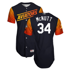 Photo of Trey McNutt #34 Las Vegas Aviators 2019 Home Alternate Jersey