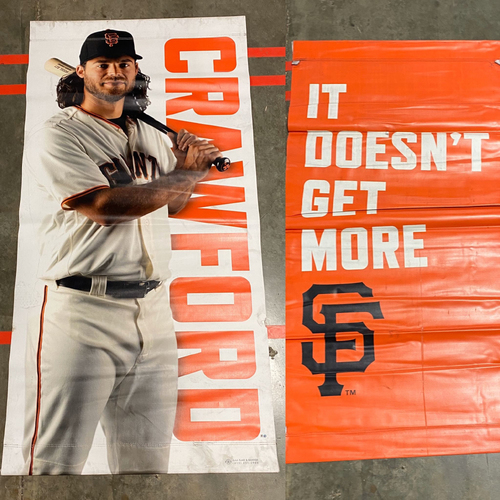 Photo of 2019 Street Banner - #35 Brandon Crawford