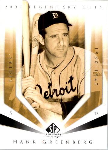 Photo of 2004 SP Legendary Cuts #48 Hank Greenberg