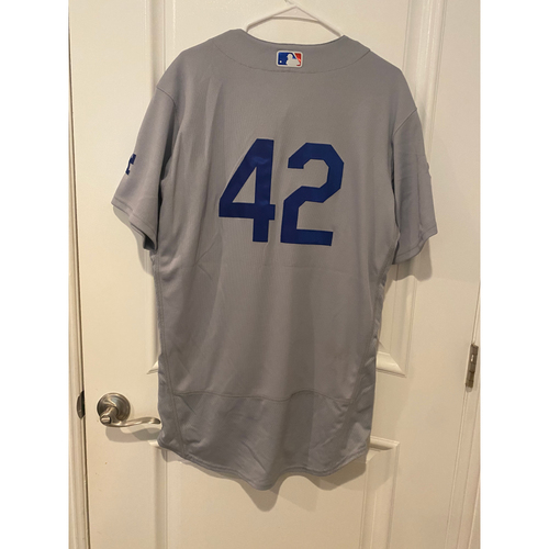 Photo of Dylan Floro Authentic Game-Used Jersey from 8/28/20 Game @ TEX - Size  44