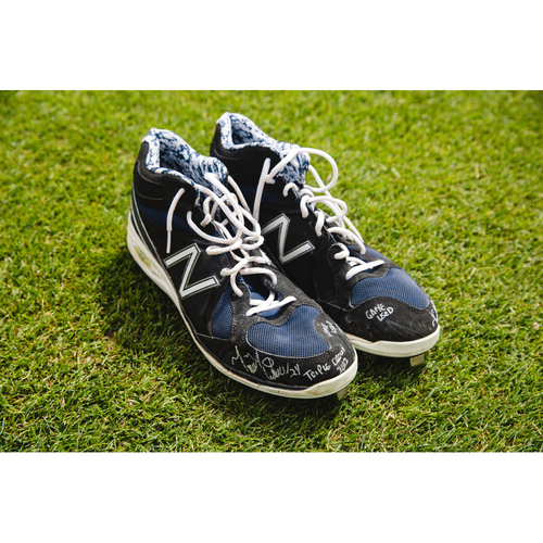 Photo of Cabrera Exclusive! Miguel Cabrera Autographed and 2012 Triple Crown Inscribed Cleats (MLB AUTHENTICATED)