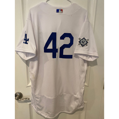 Photo of Chris Taylor Game-Used Jackie Robinson Day Jersey - Size 46
