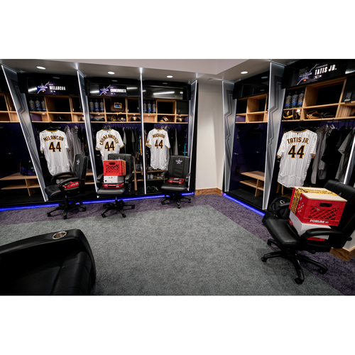 Photo of 2021 All-Star Game Clubhouse Chair Panel from Mark Melancon's Locker Chair