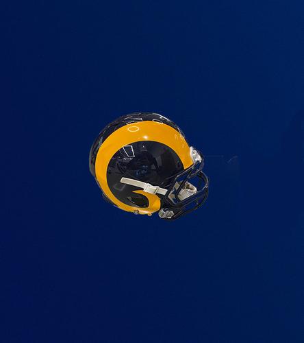 Photo of Navy and Yellow Authentic Rams Helmet