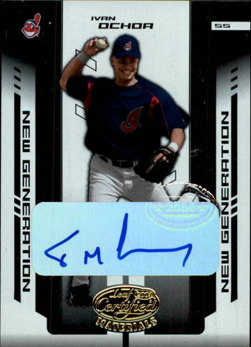 Photo of 2004 Leaf Certified Materials #255 I.Ochoa NG AU/1000 RC