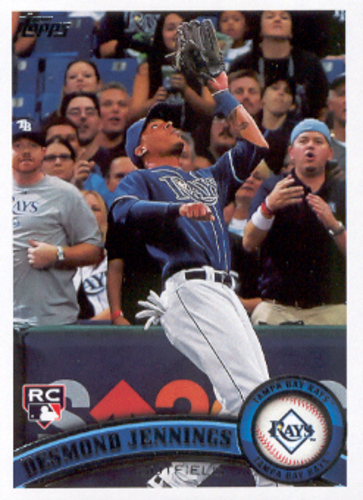 Photo of 2011 Topps #80A Desmond Jennings RC