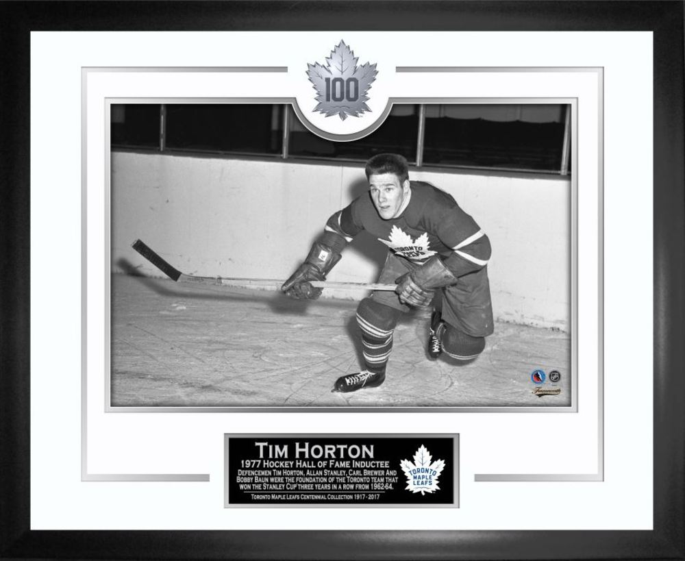 Tim Horton - Framed Leafs 100th Anniversary