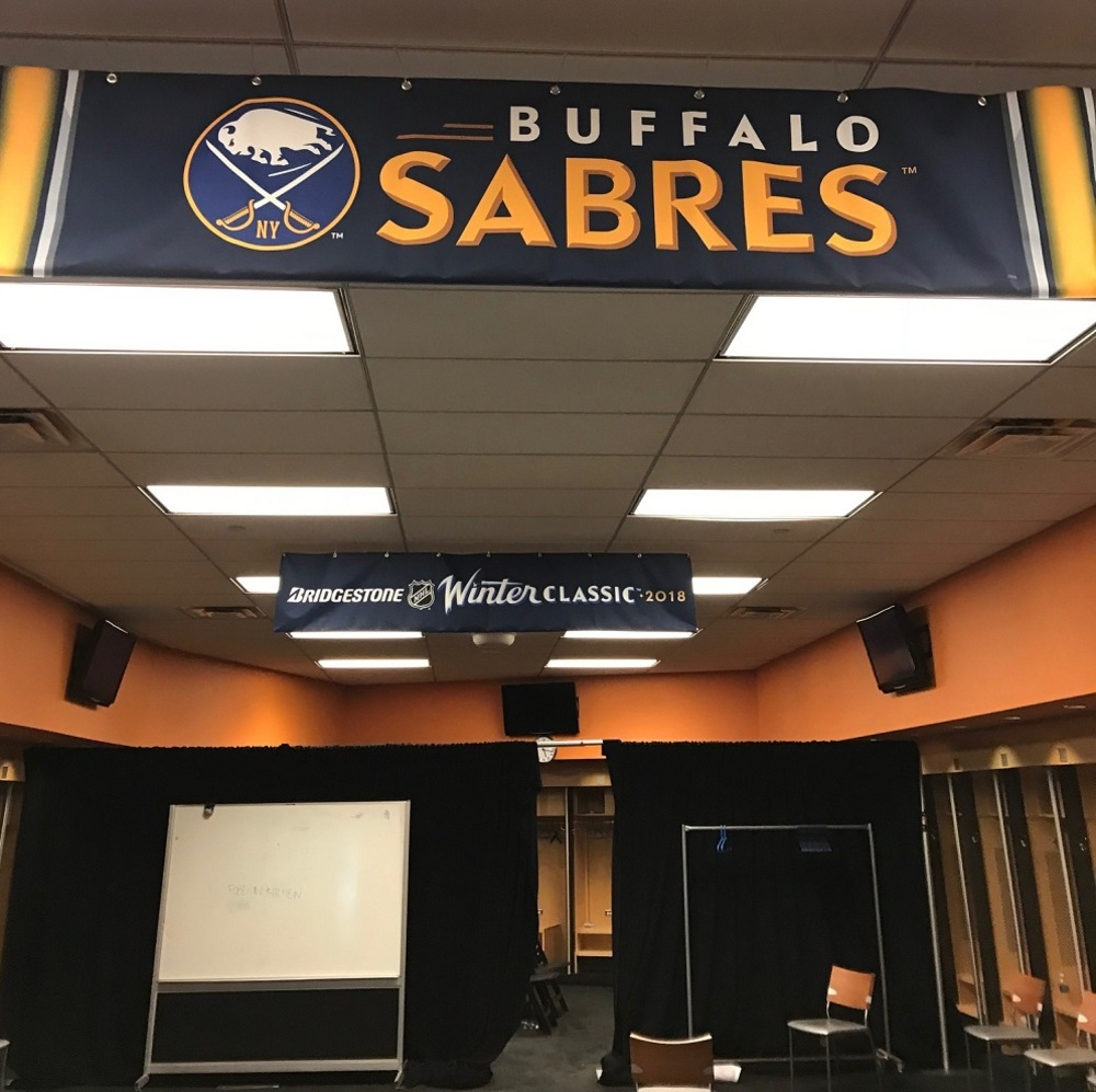 2018 NHL Winter Classic Locker Room Banner - Buffalo Sabres