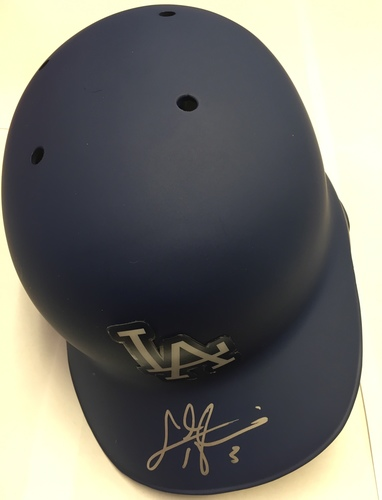 Photo of Chris Taylor Autographed Dodgers Batting Helmet