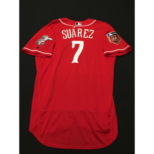 check out dc862 8ea08 MLB Auctions | Eugenio Suarez -- Game-Used Spring Training ...