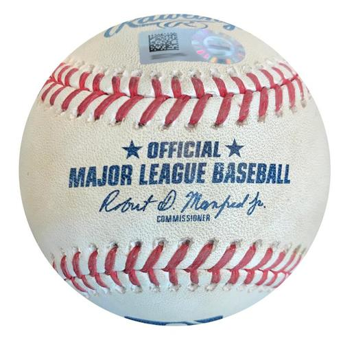 Photo of Game-Used Baseball from Pirates vs. Cubs on 5/29/18 - Austin Meadows 3rd Career Double