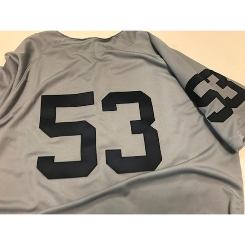 Photo of Team-Issued 1968 World Series 50th Anniversary Jersey: #53