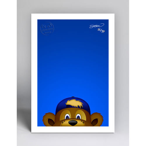 Photo of Clark - Limited Edition Minimalist Mascot Art Print by S. Preston  - Chicago Cubs