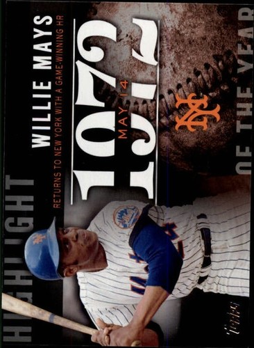 Photo of 2015 Topps Highlight of the Year #H75 Willie Mays UPD
