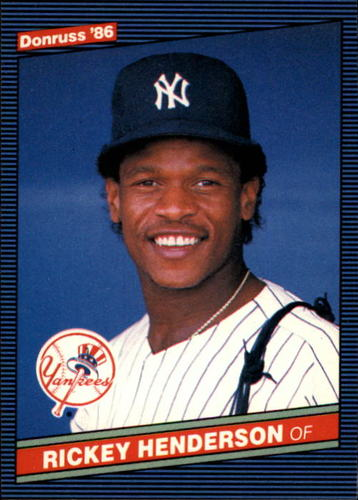 Photo of 1986 Donruss #51 Rickey Henderson