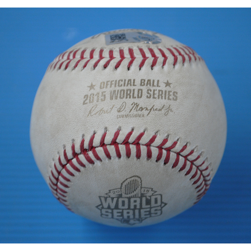 Photo of Game-Used Baseball - 2015 World Series - Kansas City Royals at New York Mets - Batter - Christian Colon, Pitcher - Addison Reed, Top of 12, Pitch in the Dirt - Game 5 - 11/1/2015