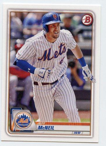 Photo of 2020 Bowman #77 Jeff McNeil