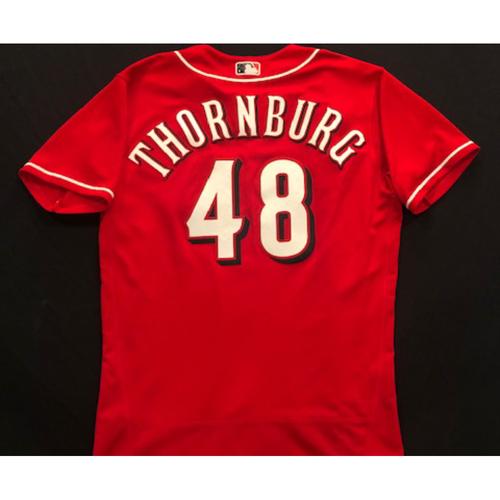 Photo of Tyler Thornburg -- 2020 Spring Training Jersey -- Team-Issued -- Size 44