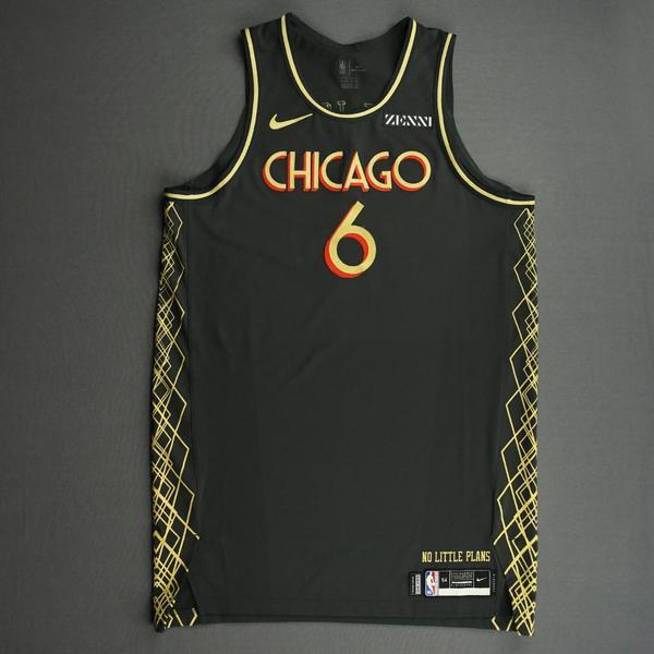 Image of Cristiano Felicio - Chicago Bulls - City Edition Jersey - Dressed, Did Not Play (DNP) -2020-21 NBA Season