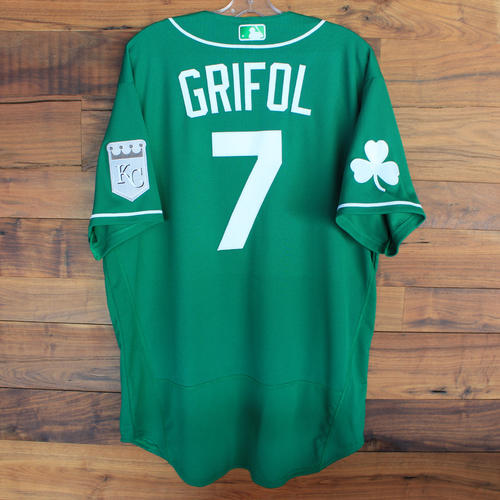 Photo of Team-Issued 2020 St. Patrick's Day Jersey: Pedro Grifol #7 - Size 48