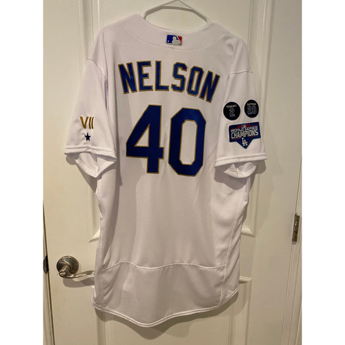 Jimmy Nelson Special-Edition Home Opening Weekend Gold-Outlined Game-Used Jersey