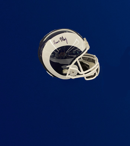 Photo of Sean McVay and Les Snead Signed Replica Helmet