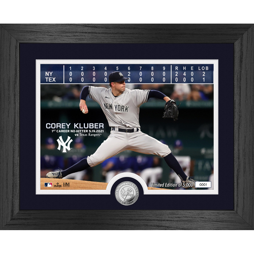 Photo of Corey Kluber No-Hitter Silver Coin Photo Mint