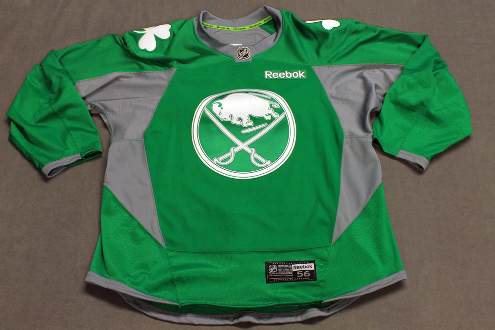 new product 6d86b 1be24 Chris Stewart Team Issued Buffalo Sabres St. Patrick?s Day ...
