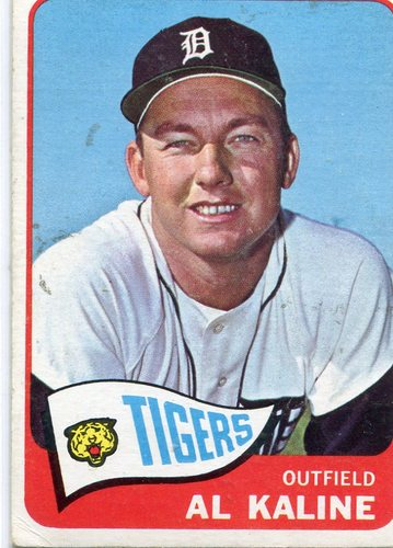 Photo of 1965 Topps #130 Al Kaline Hall of Famer