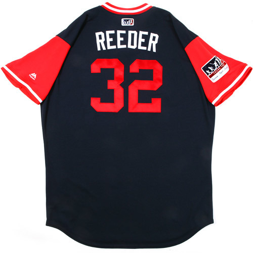 "Photo of Marty ""Reeder"" Reed Atlanta Braves 2017 Game-Used Players Weekend Jersey"