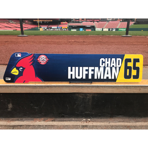 Photo of Cardinals Authentics: Chad Huffman Team-Issued Locker Tag