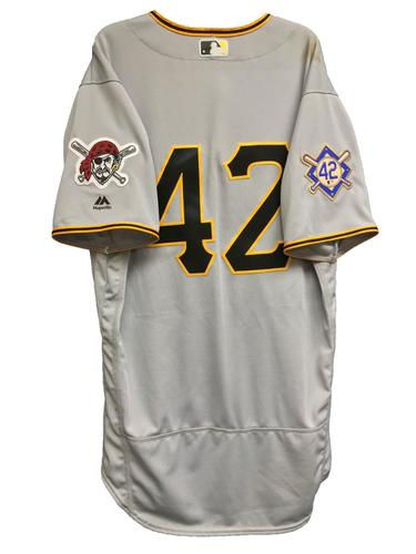 Photo of Josh Harrison Game-Used 2018 Jackie Robinson Day Jersey