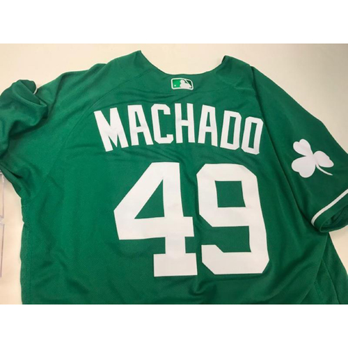 Photo of Game-Used St. Patrick's Day Jersey: Dixon Machado